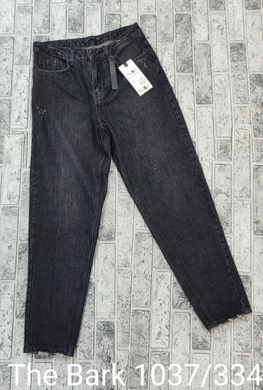 Черные женский джинсы-мом коттон The Bark 1037/334 (26-30)