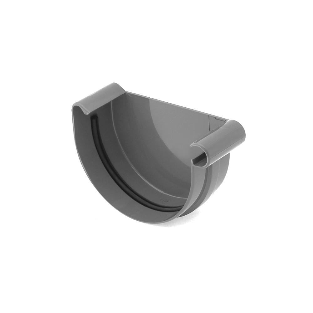 Заглушка ринви права желоба правая 125 мм Водосточная система BRYZA Бриза ПВХ Польща коричневый 8017