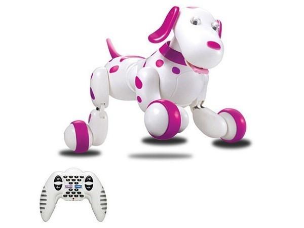 Интерактивная собачка на радиоуправлении 777-338, розовая