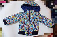Демисезонная куртка Звезды для мальчика  1,2 года
