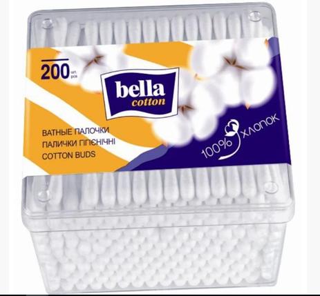 Ватные палочки Bella Coton, в коробке (200шт.), фото 2
