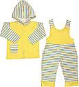 Дитячий костюм комплект для новонароджених ріст 80 9-12 міс на хлопчика дівчинку трикотажний інтерлок жовтий, фото 2