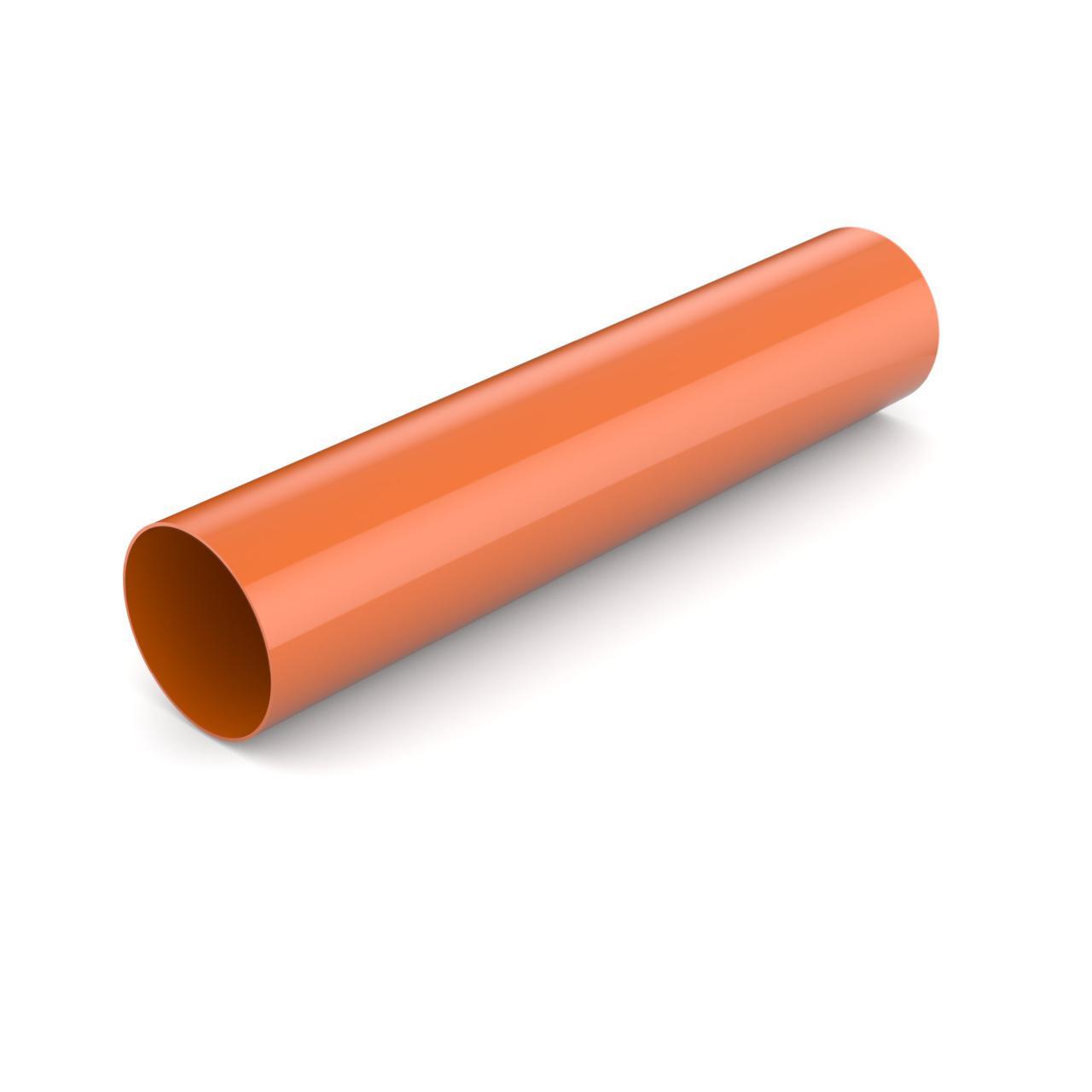 Водостічна труба Водосточная труба 90 мм Водосточная система BRYZA Бриза ПВХ Польща кирпичный 8004