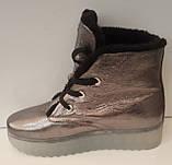 Ботинки женские зимние кожаные от производителя модель ЛИН870-3, фото 4