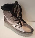 Ботинки женские зимние кожаные от производителя модель ЛИН870-3, фото 5