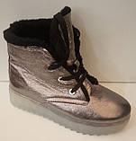 Ботинки женские зимние кожаные от производителя модель ЛИН870-3, фото 2