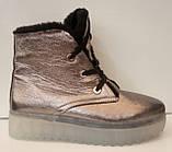 Ботинки женские зимние кожаные от производителя модель ЛИН870-3, фото 3