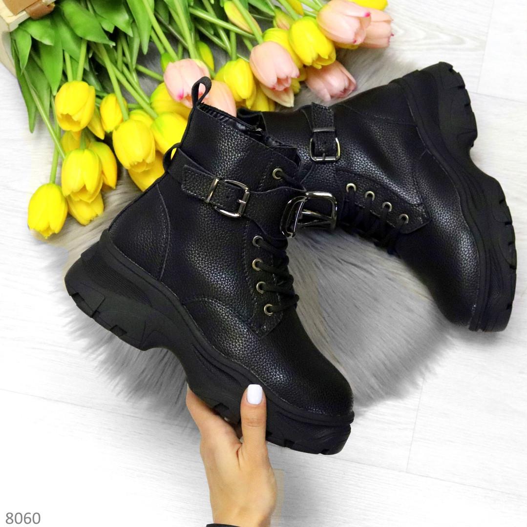 Удобные черные зимние женские ботинки натуральная кожа флотар зима 2020-2021
