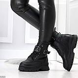 Удобные черные зимние женские ботинки натуральная кожа флотар зима 2020-2021, фото 2