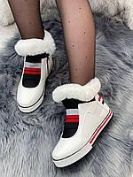 Ботинки женские зимние 8 пар в ящике белого цвета 36-41, фото 3