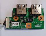 474 Разъемы USB Packard Bell ETNA-GM TN65 - 50.4J702.001G 50.4J702.001 P08B1 USB Board, фото 3