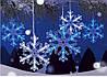 "Новогодняя гирлянда ""Снежинки"" 100 LED, 4 Метра, фото 4"