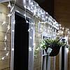Новогодняя гирлянда Бахрома 500 LED, Белый холодный свет 22,5W, 24 м + Ночной датчик, фото 6