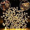 Новогодняя гирлянда 100 LED,Желтый , Длина 8 Метров, фото 2