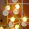 """Новогодняя гирлянда """"Снеговики"""" 10 LED, Длина 2M, фото 4"""
