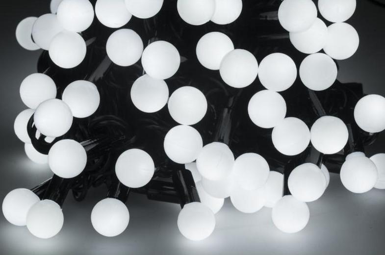 Новогодняя гирлянда 300 LED / 30 м, Белый холодный свет