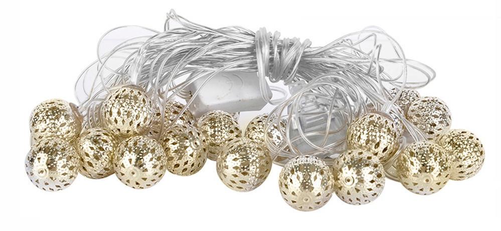 Новогодняя гирлянда 30 LED, Белый теплый свет, 5,8 м