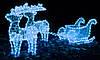 Рождественский светодиодный олень с санками, фото 3