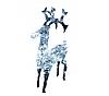 Новогодняя акриловая статуя олень Большой  RENIFER, Светящиеся новогодние олени 100 LED, фото 4