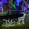 """Новогодняя гирлянда """"Олень"""" 123 см (Холодный белый + флеш), фото 2"""