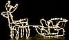 """Новогодняя гирлянда """"Олень"""" 123 см (Холодный белый + флеш), фото 3"""