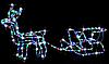 """Новогодняя гирлянда """"Олень"""" 123 см (Холодный белый + флеш), фото 4"""