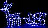 """Новогодняя гирлянда """"Олень"""" 123 см (Холодный белый + флеш), фото 5"""