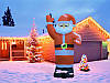 Надувной Дед Мороз Высота 1,8 м, фото 4