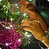 Новогодняя гирлянда 50 LED, На прозрачном проводе, Белый холодный свет,5м, фото 3