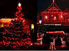 Новогодняя гирлянда 200 LED, Длина 16m, Красный свет, фото 4