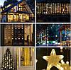 Новогодняя гирлянда бахрома звездочки 5 м 175 LED (Белый холодный с голубой вспышкой), фото 10