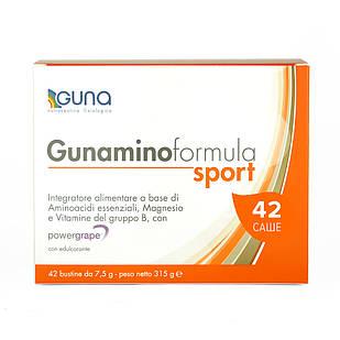 Gunaminoformula Sport (GUNA). 42 саше, 315 г. 8 незаменимых аминокислот, витамины и антиоксиданты для спорта