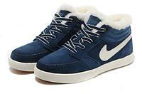 Кроссовки зимние мужские/женские Найк Nike Blazer Mid Wool (с мехом)