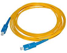 Патчкорд оптичний SC / UPC-SC / UPC 3,0mm 1 м Premium, ціна за 1 шт, Q10