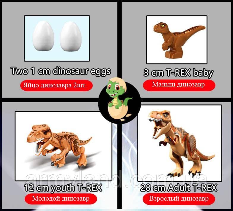 Конструктор Динозавр семья Теранозавр Рекс  5 в 1 , аналог Лего