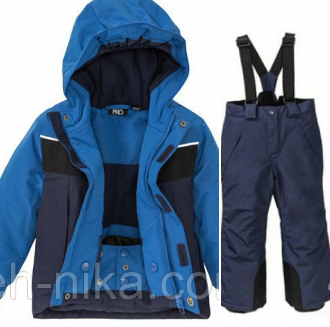Лыжный термокостюм синяя куртка и синие штаны  для мальчика Crivit Pro р.98/104см