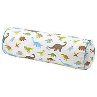 IKEA JATTELIK Декоративная детская подушка, динозавр/разноцветная (204.641.74)