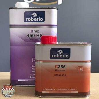 Лак акрилово-полиуретановый Roberlo Unix 450 2:1 HS, 1 л + 500 мл Комплект