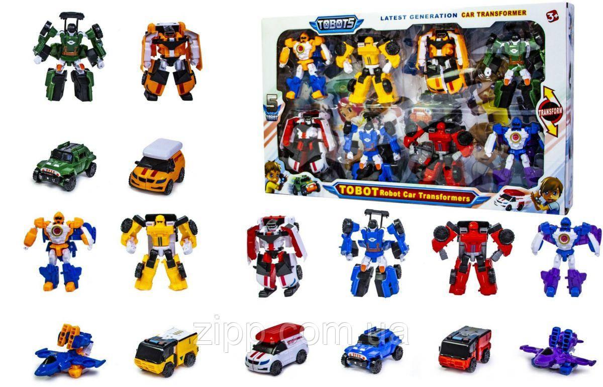 Набор 8 роботов-трансформеров Тоботы Tobot   Набор Трансформеры Тобот 8 шт   Трансформеры Tobot 8 шт