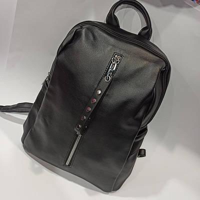 Оригинальный женский городской кожаный рюкзак. Модель 1706