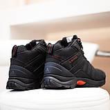 Adidas Climaproof Мужские черные зимние нубуковые кроссовки. Мужские зимние кроссовки с мехом на шнуровке, фото 2
