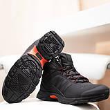 Adidas Climaproof Мужские черные зимние нубуковые кроссовки. Мужские зимние кроссовки с мехом на шнуровке, фото 3
