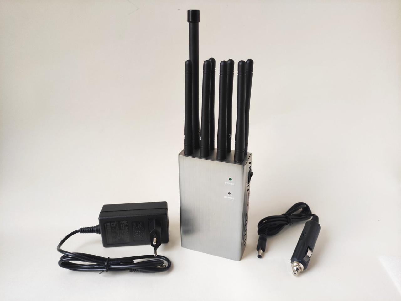 "Мощная переносная глушилка GSM,GPS  ""Хищник 8А"" 4G, 3G, DCS, GPS, Wi-Fi, RC/UHF/VHF/LOJACK 8 Антенн"