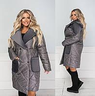 Женское пальто большого размера.Размеры:50/52,54/56,58/60+Цвета, фото 1