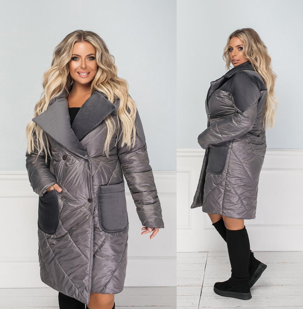 Женское пальто большого размера.Размеры:50/52,54/56,58/60+Цвета