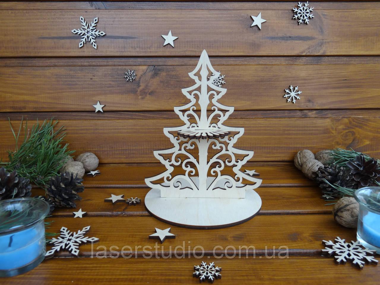"Салфетница из дерева ""Елка""   Новогодний декор"