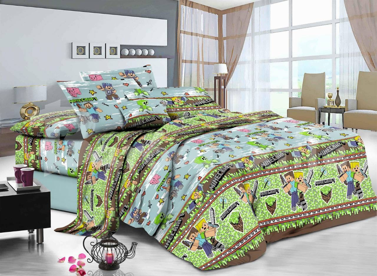 Семейное постельное белье-майнкрафт