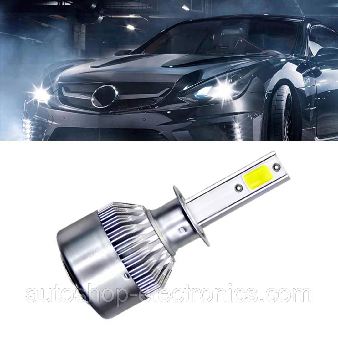 Светодиодные LED лампы в фары автомобиля H1, Светодиодная лед лампа COB 6000K 8-48V, LED лампы головного света