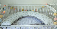 Подушка для беременних , подушка для вагітних ,подушка для кормления 3 в 1 в сірих тонах 2572