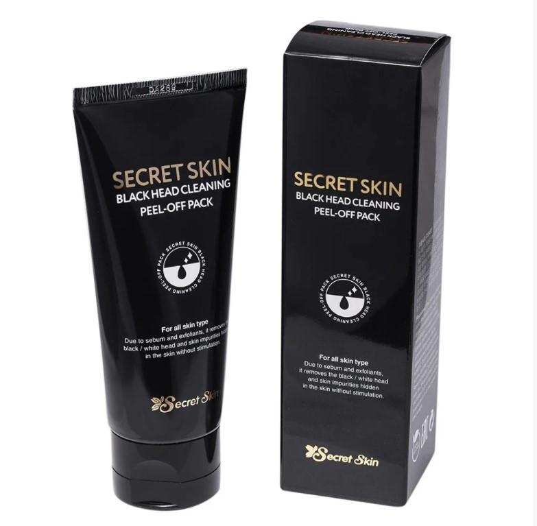 Secret skin Маска-пленка от черных точек Black Head Cleaning Peel-Off Pack 100ml